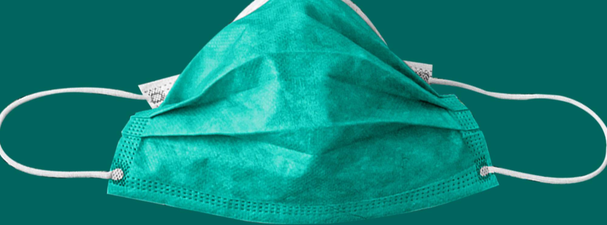 Alltagsmaske in grün - Corona